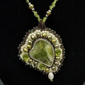 Jewelry - Handmade Green Jasper & Peridot Necklace